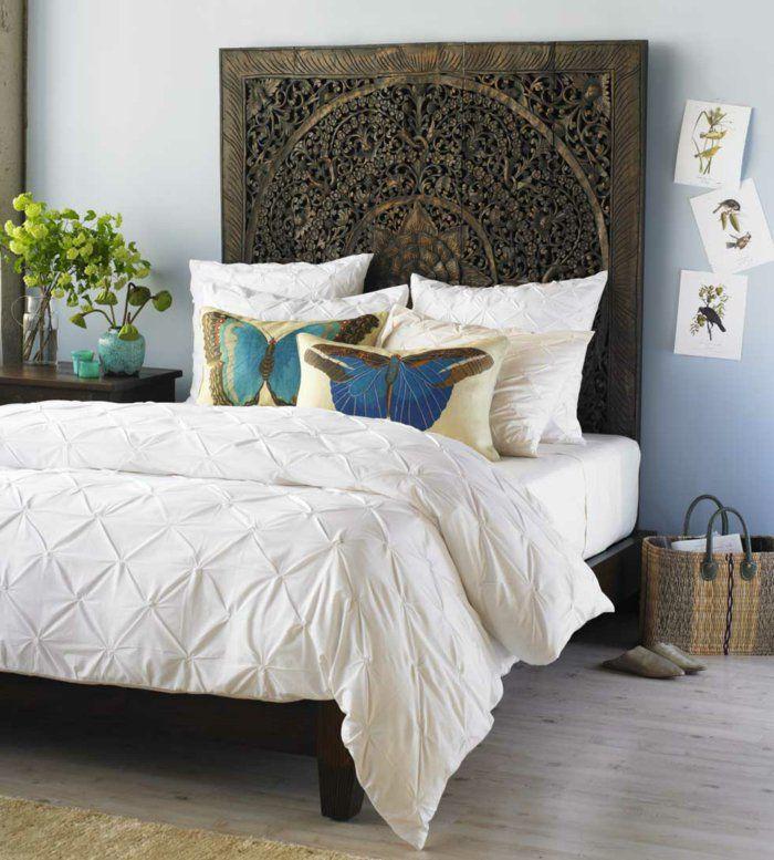 wohnideen selber machen schlafzimmer bettkopfteil DIY - Do it - wohnideen von europaletten