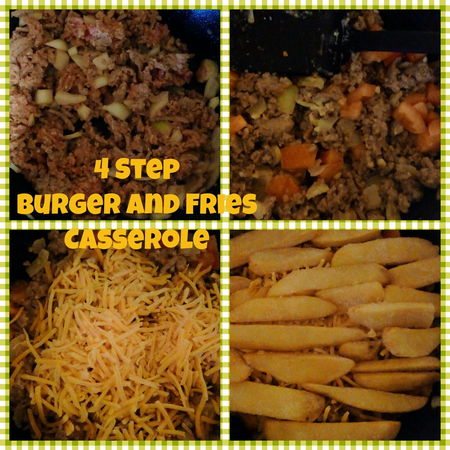 Yummy Easy Burger and Fries Casserole