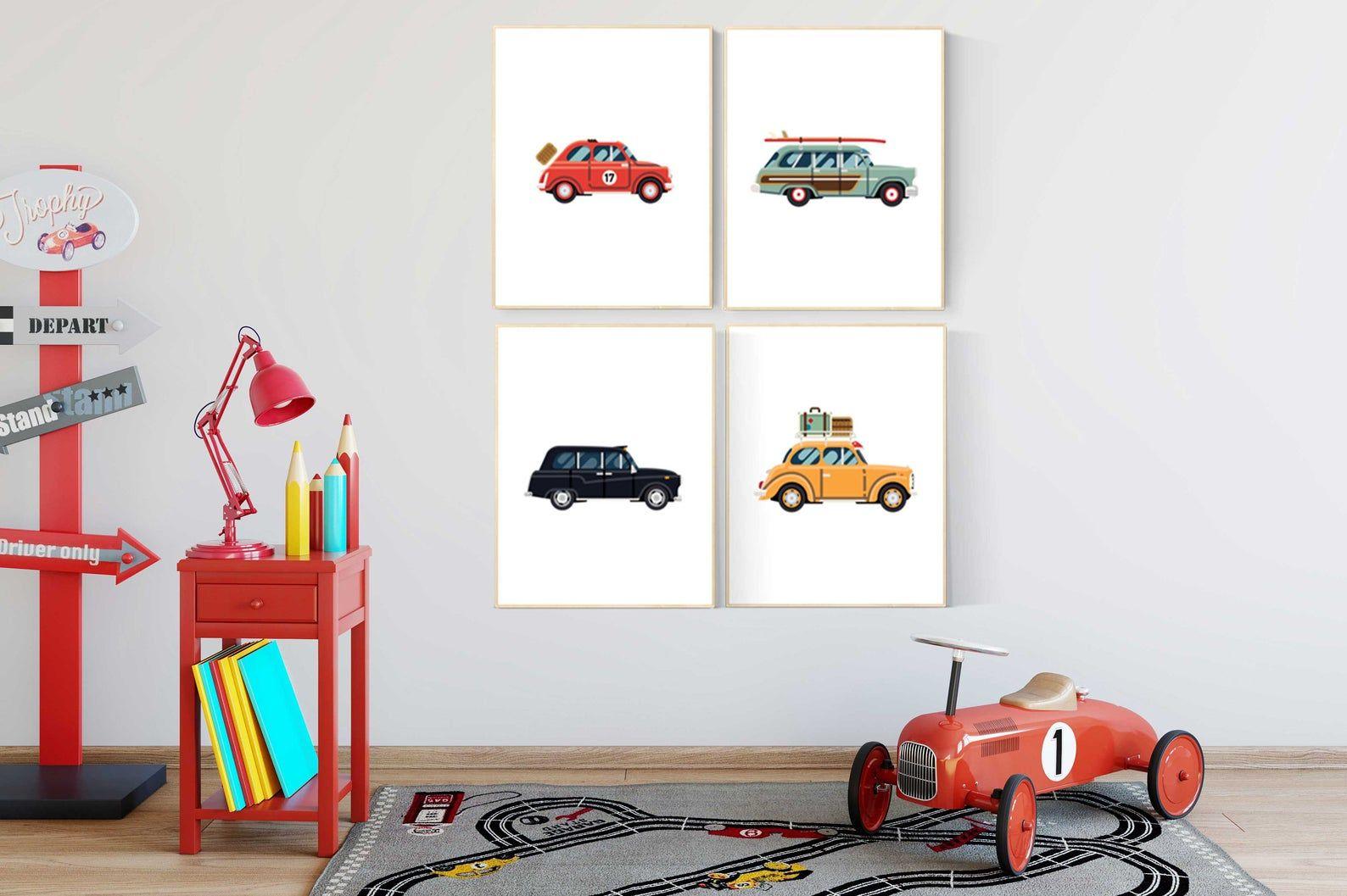 Nursery Wall Art Boys Room Decor Cars