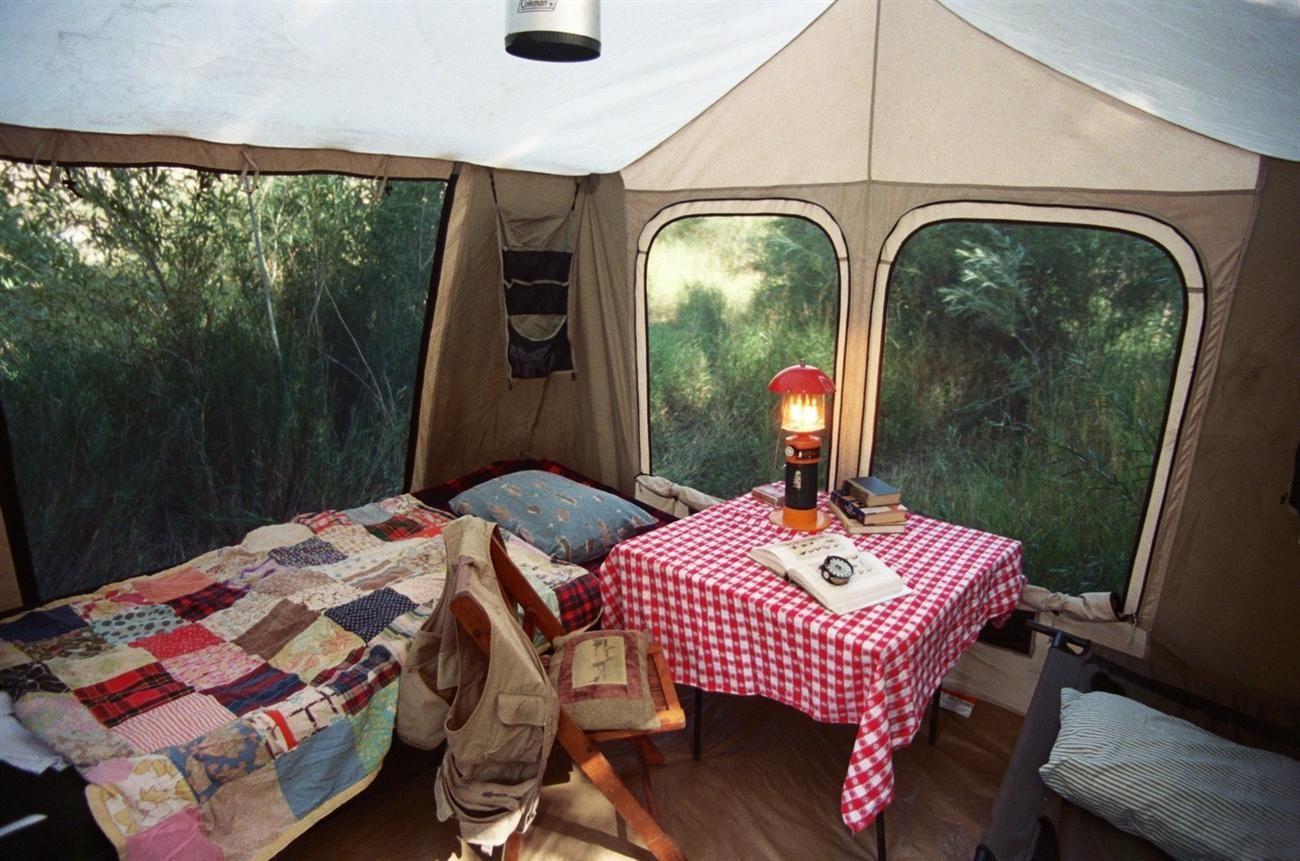 Glamping Safari Tent on the Yellowstone River, Montana ...