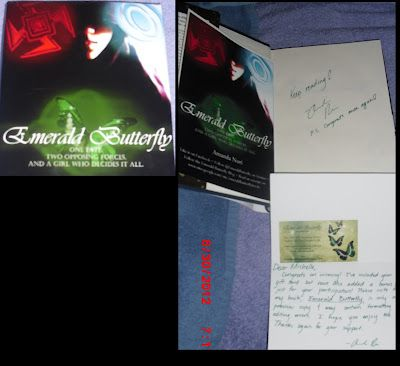 @MichelleLynn851 's autographed copy of #EmeraldButterfly glad you liked it!