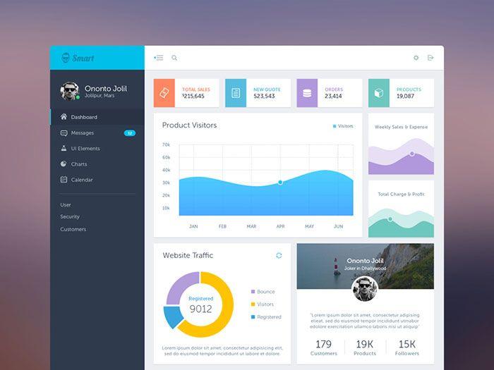 Showcase Of Beautiful Dashboard UI Designs | Website design ...