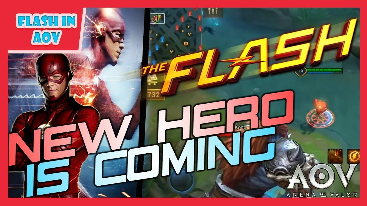 Aov Arena Of Valor New Hero Dc The Flash Gameplay Flash Is Coming In