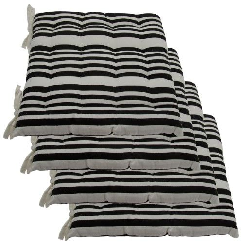 Image result for Kitchen Chair cushions with ties black