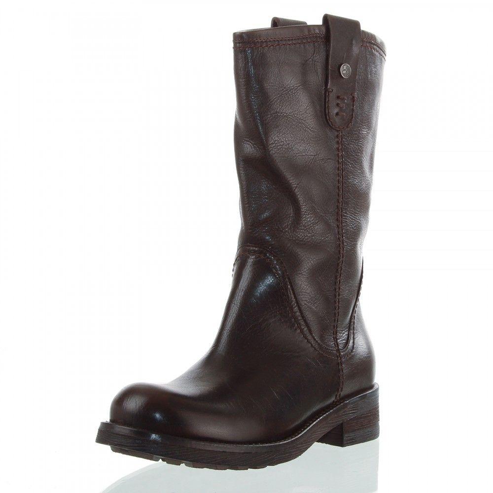 OTTO KERN 80263 Damen Stiefel, Leder, Absatz 4 cm