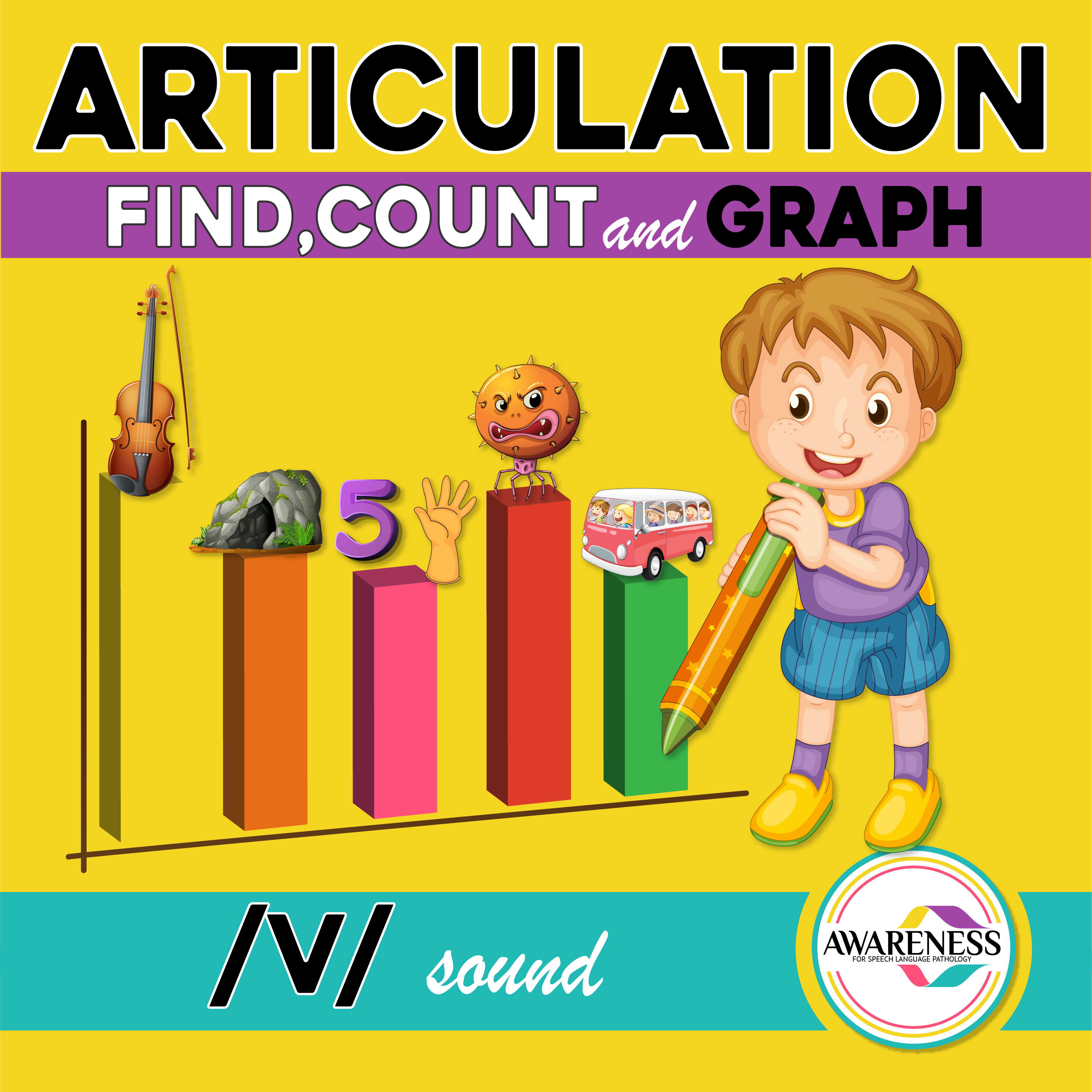 V Articulation Activity V Sound Count Amp Graph No Prep