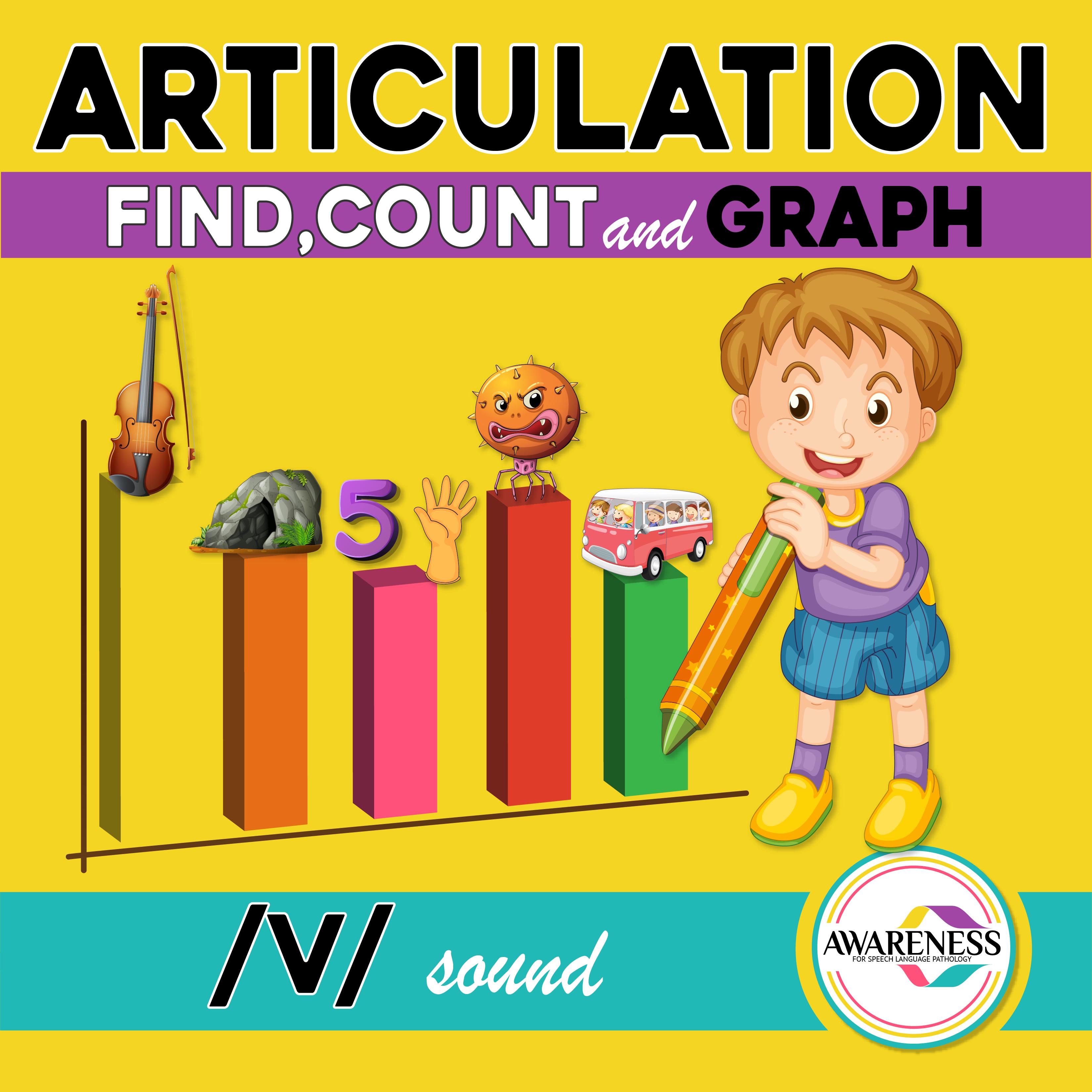 V Articulation Activity V Sound Count Amp Graph No Prep