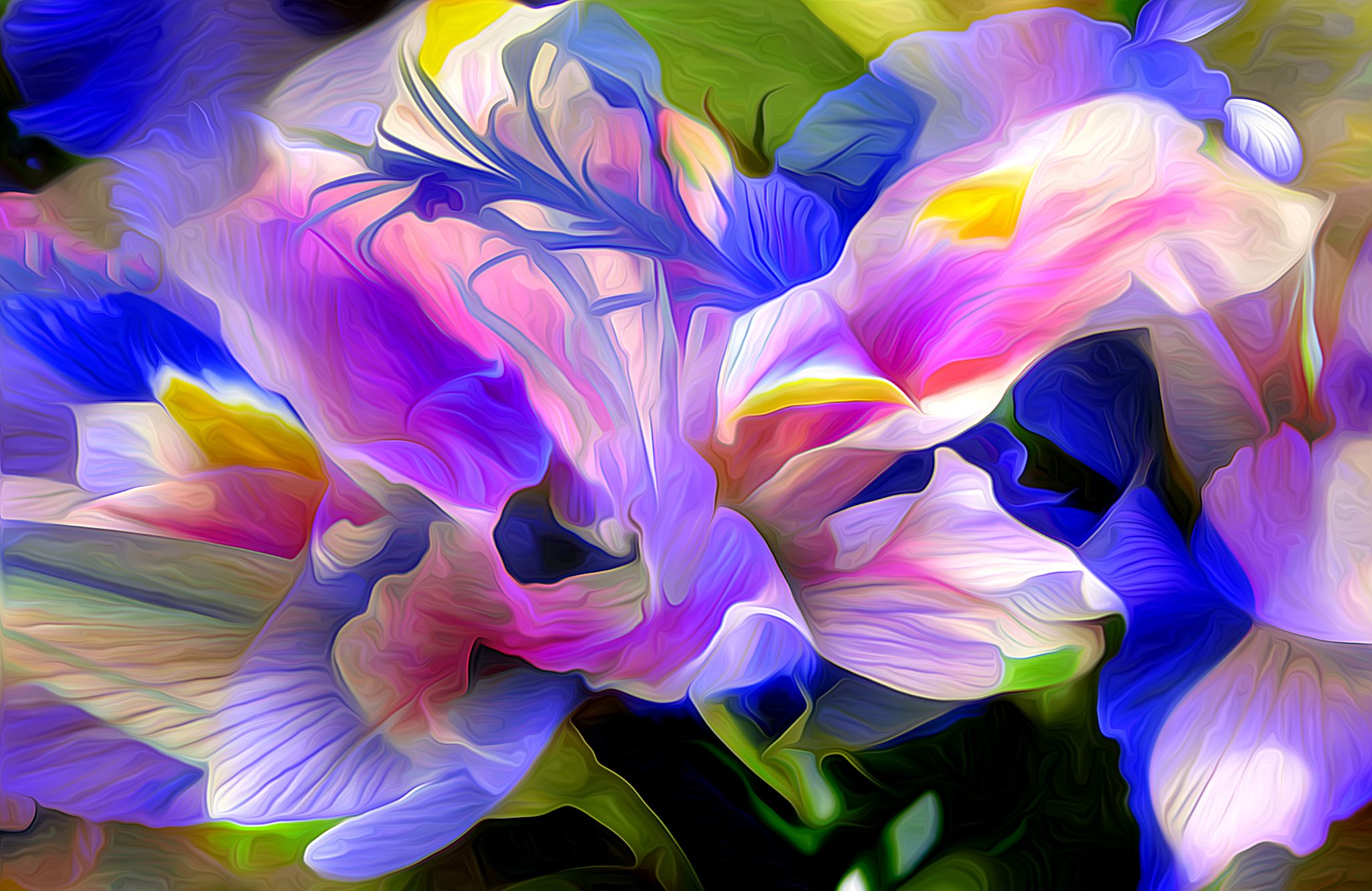 Free Colorful Flower Wallpaper Downloads: Free Download Water Color Purple Petals Flower Painting