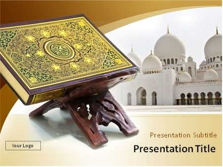 The holy quran with muslim mosque in the background powerpoint the holy quran with muslim mosque in the background powerpoint template preview toneelgroepblik Images