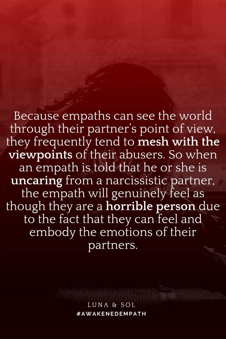 Hookup a player relationships with narcissists and empaths