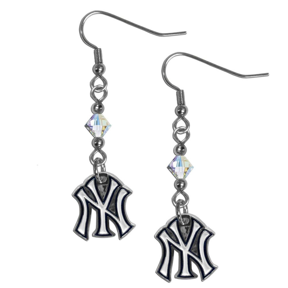4b4565b1abb3b7 New York Yankees Crystal Dangle Earrings
