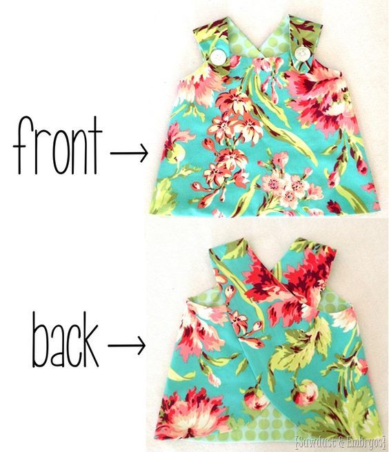 How to Sew a Simple Dress for Girls | Sewing | Costura, Ropa bebe ...