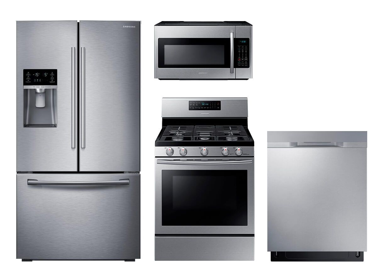 Samsung Stainless Steel 4 pc. Appliance Suite | Kitchen ...