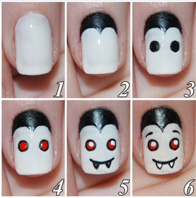 Vampire Nails All Things Hallows Eve Pinterest