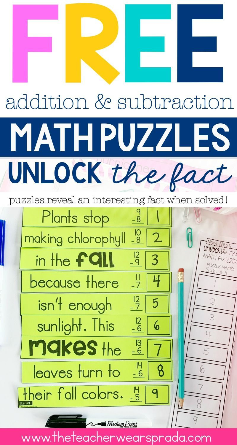 Download Free Math Puzzles For Your 2nd Grade Or 3rd Grade Math Classroom These Math Centers Include 3rd Grade Words Word Problems 2nd Grade Math Worksheets [ 1500 x 800 Pixel ]