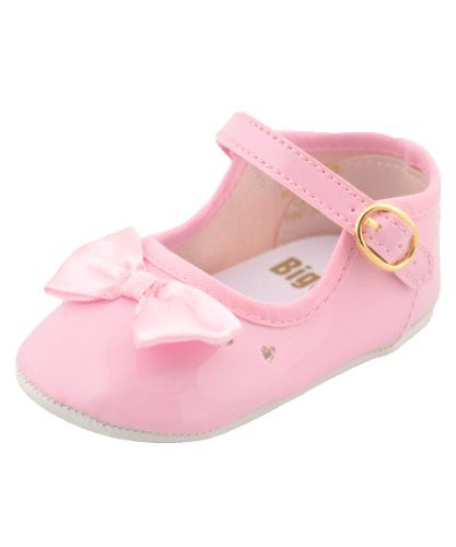 BIG OSHI Baby Girls Toe Bow Mary Jane Booties 001