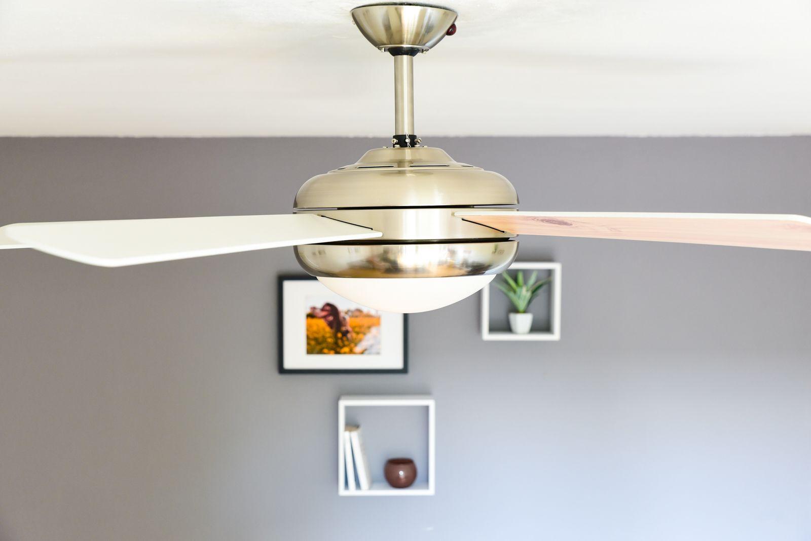 Decken Ventilator Led Wohnraum Lufter Kuchen Lampe Fernbedienung Kuhler Warmer Ebay