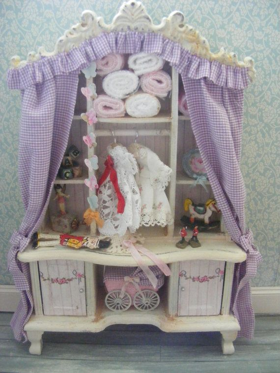 Dolls house miniature nursery cupboard by juliedeighton on Etsy, $109.00