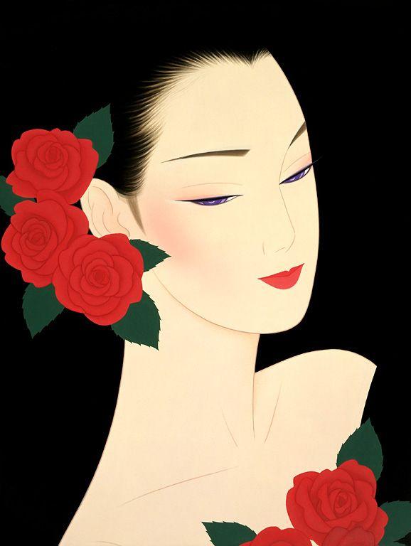"Ichiro Tsuruta (Japanese, b. 1954) - ""Memorial Sweet Roses"", 2007 - Lithograph"