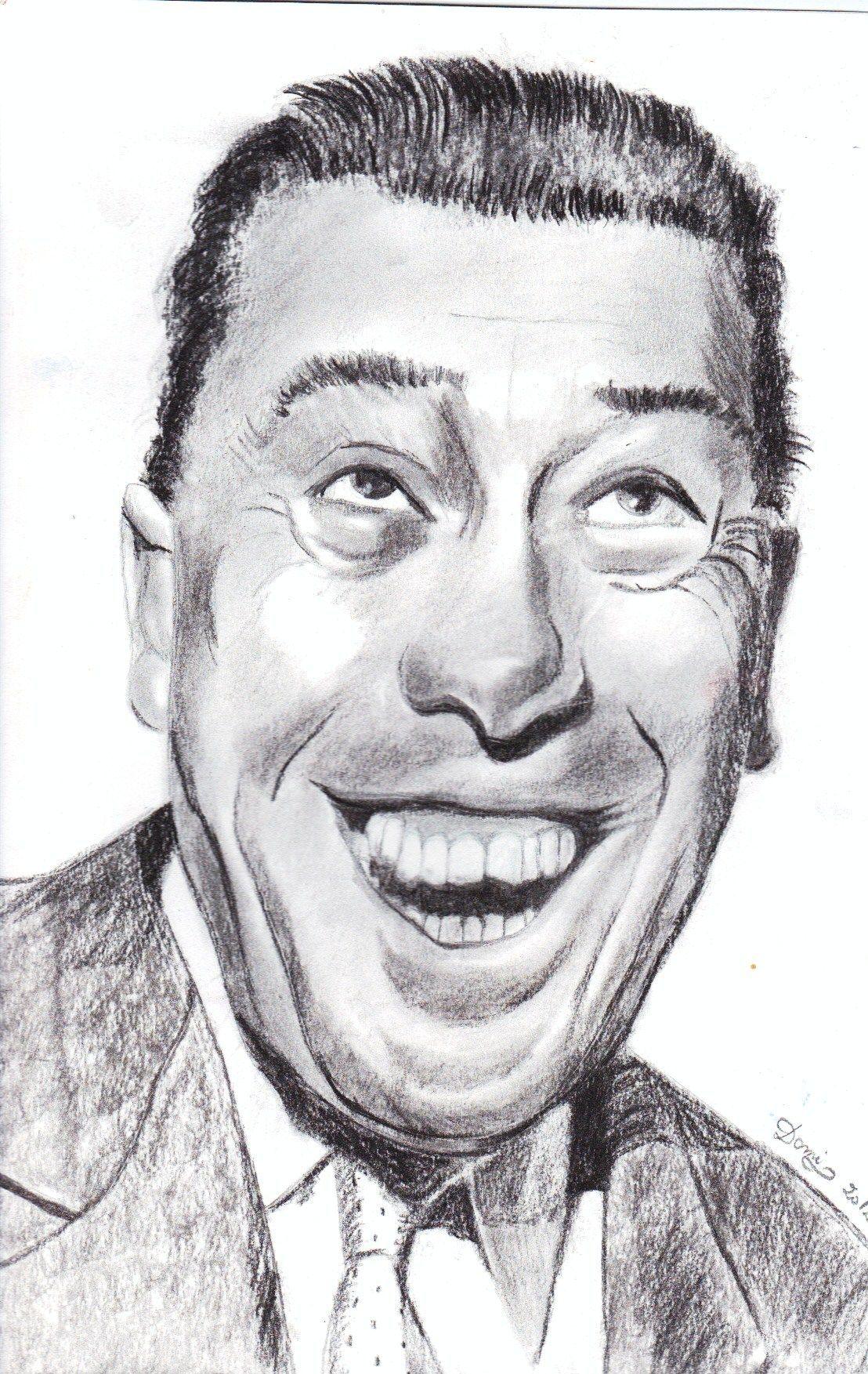 Portrait De Fernandel Au Crayon Et Fusain Domi Dessins Et Peintures Portraits Au Fusain Dessin Caricature Portrait