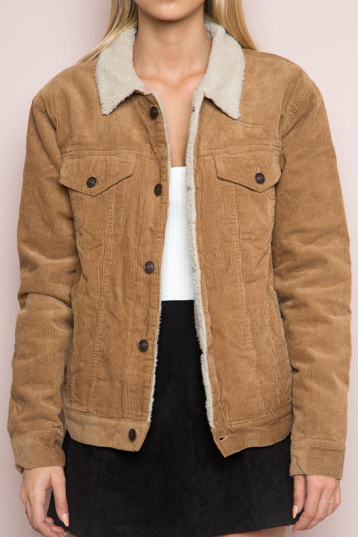 Brandy ♥ Melville | Elisha Fur Corduroy Jacket - Just In ...