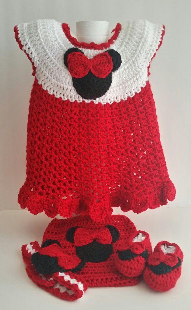 Girl Mouse Gift Set Red 6 Months   Tejido, Bebe y Ganchillo para bebés