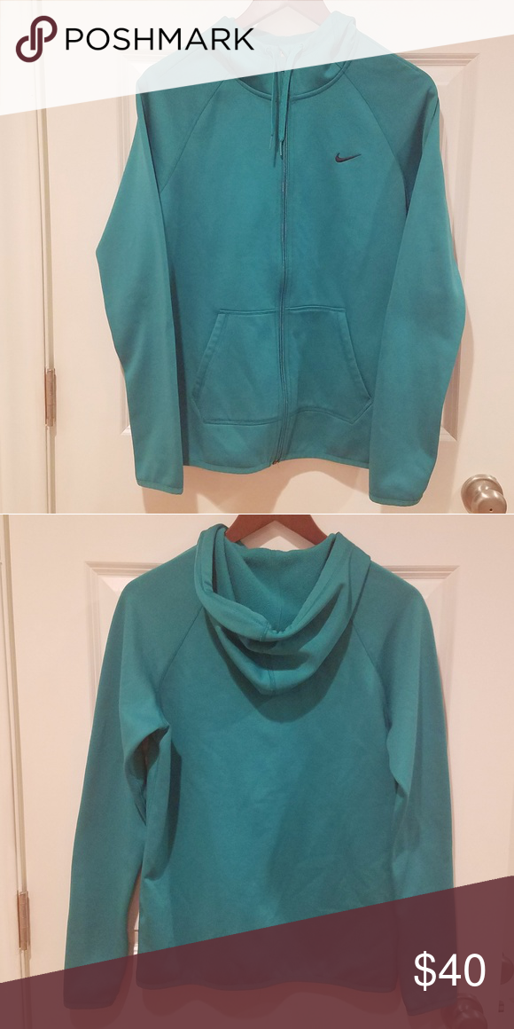 Women's Nike Small Dri Fit Zip Up hoodie Teal Brand new