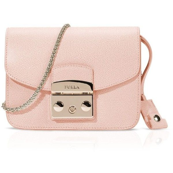 a1179a9d30c Furla Metropolis Mini Crossbody ( 328) ❤ liked on Polyvore featuring bags,  handbags, shoulder bags, pink shoulder bag, leather crossbody, genuine  leather ...