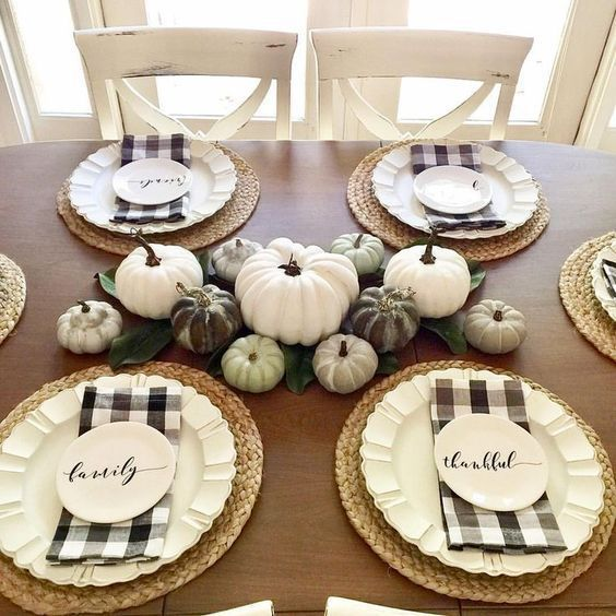 8 Beautiful Thanksgiving Table Settings - One Home to Another