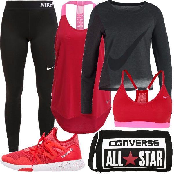 e02e034d58ed L'outfit ideale per il fitness e la palestra, per la donna che ama ...