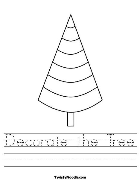 Cone Shaped Tree Interactive Coloring Worksheet lets you type in the