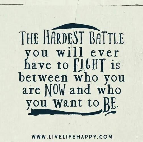 The hardest battle | Workout motivation rox :) | Life quotes