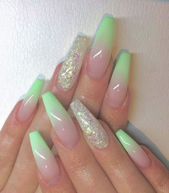 Trendy Summer Long Ombre Coffin Nails Coffin Nails Ombre Nails Trend Coffin Nails In 2019 N Ombre Acrylic Nails Pretty Acrylic Nails Ombre Nail Art Designs