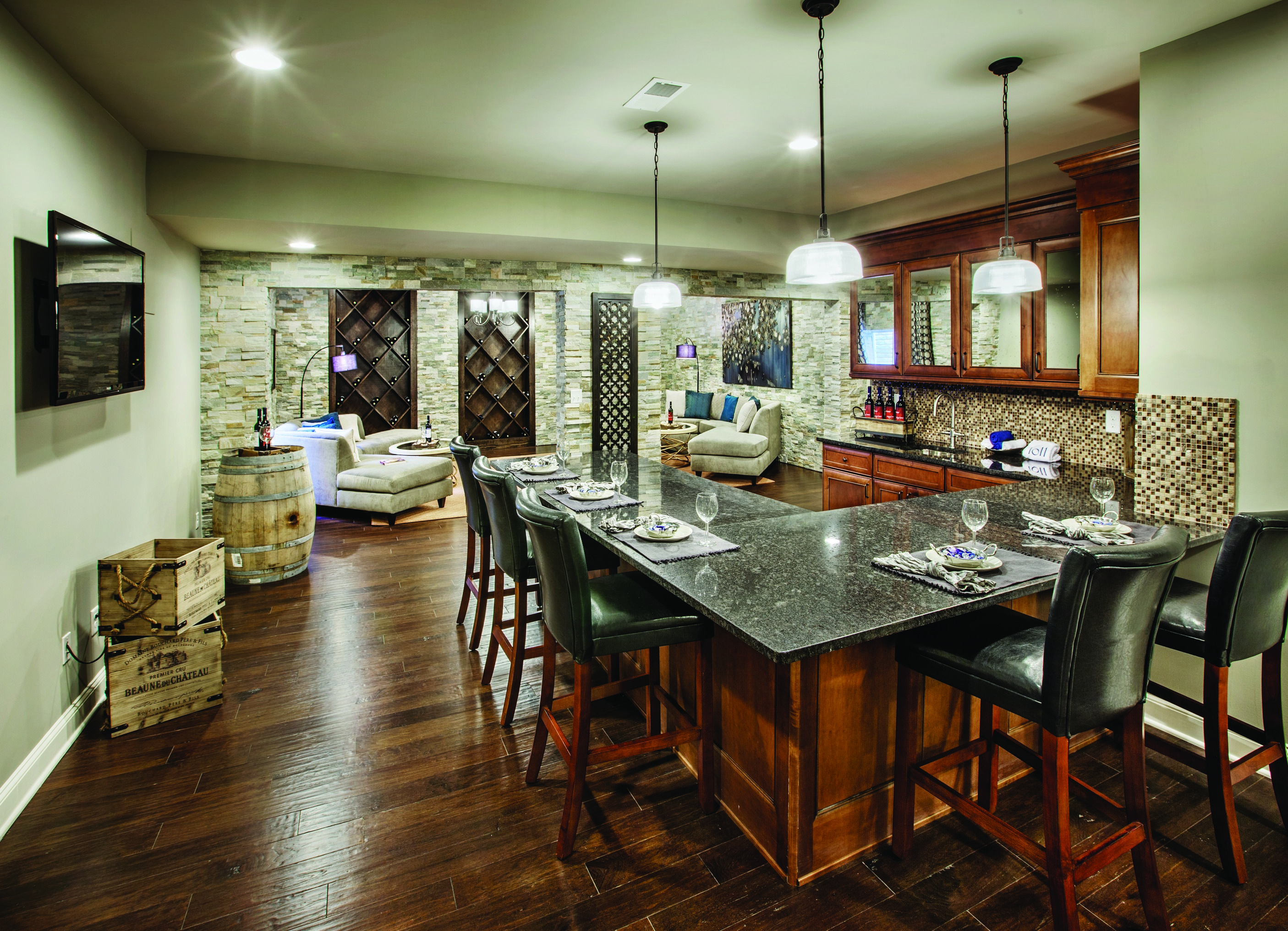 Toll Brothers design showroom in Wappinger, NY, showing Armstrong ...