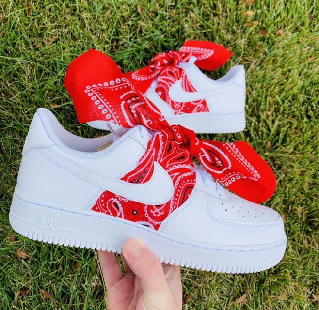 Bandana AF1 THE CUSTOM MOVEMENT in 2020 Red bandana