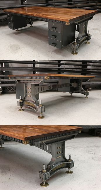 The Brunel Desk | Handmade Industrial Desk UK | Steel Vintage