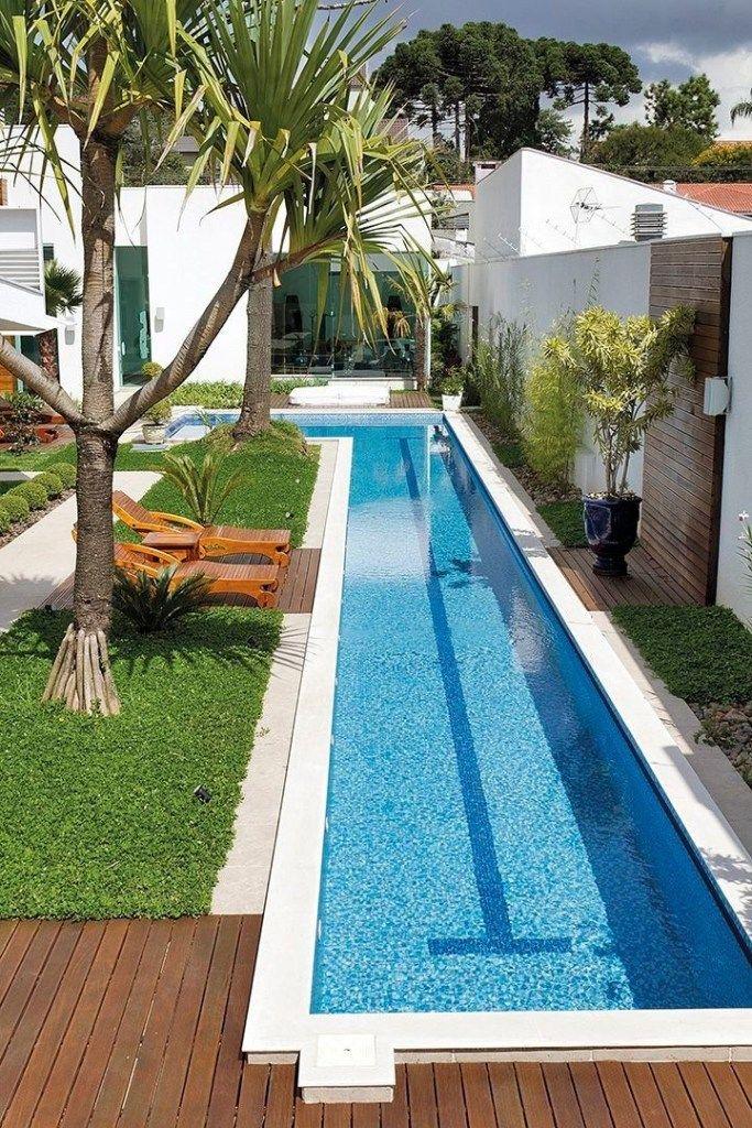 32 Awesome Swimming Pools Backyard Landscaping Ideas Pool Design Inspiration Justaddblog Com Bac Swimming Pool Landscaping Backyard Pool Pool Landscaping
