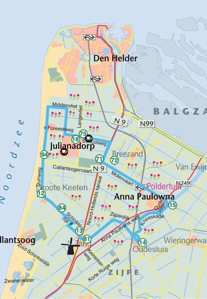 Wander Und Radwege Kleurrijk Julianadorp In 2020 Radwege