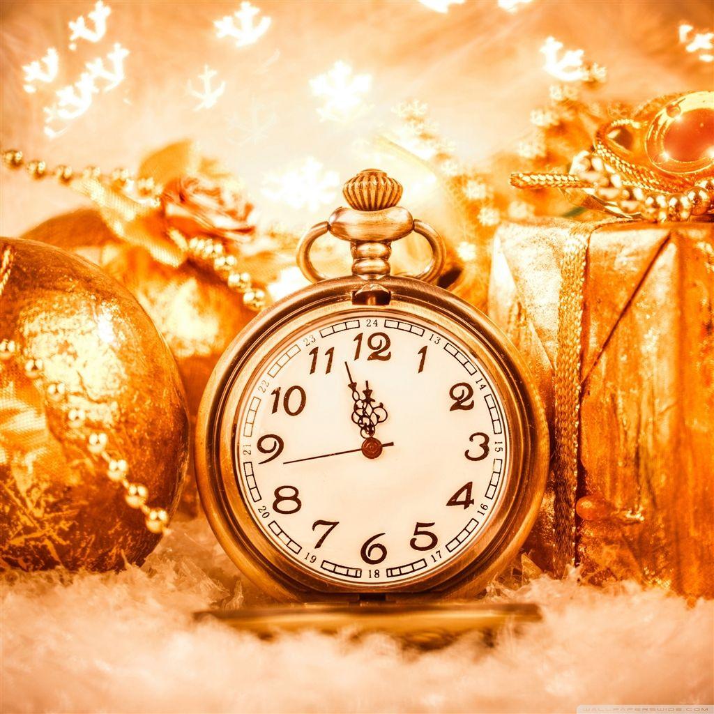 Happy New Year Clock 2015 iPad Air Wallpapers Clock