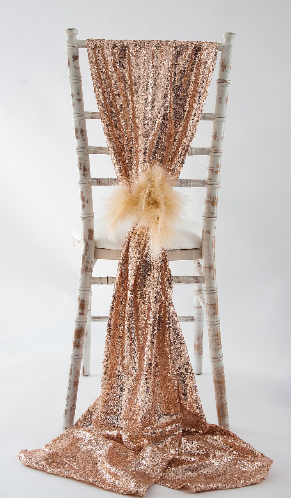 Dusky Pink Sequin Sashes Pulled Together With Champagne