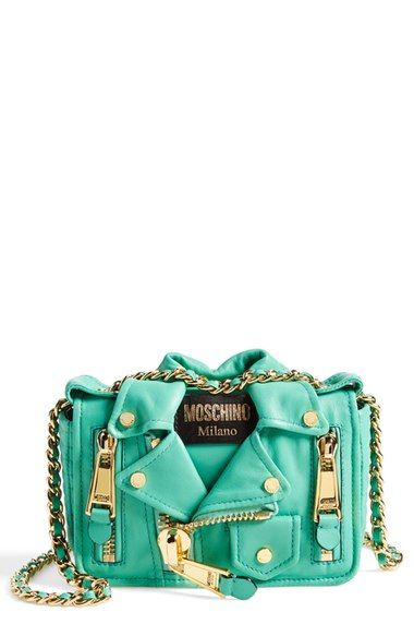 8c1f9a37897 Moschino 'Mini Leather Jacket' Crossbody Bag available at #Nordstrom ...