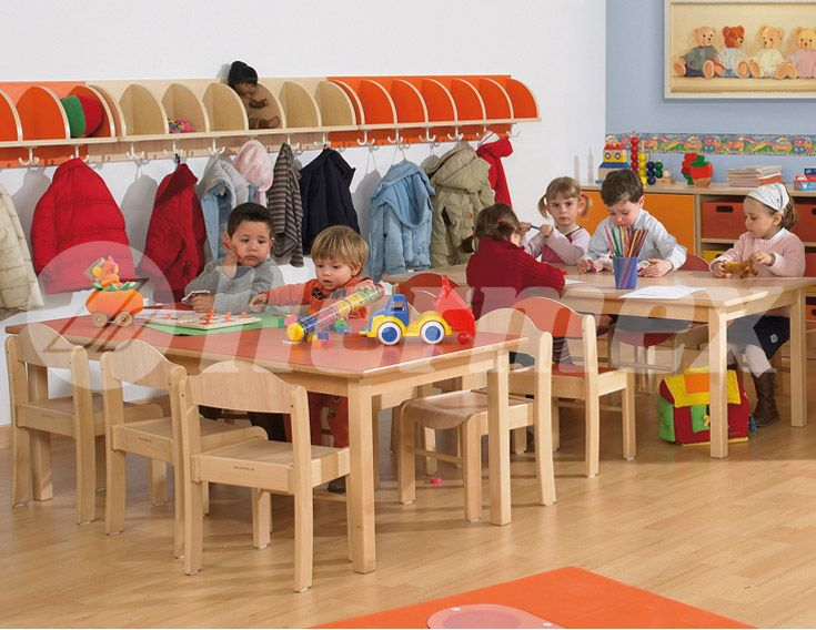 Mesa rectangular de madera mesas escolares pinterest for Muebles colegio