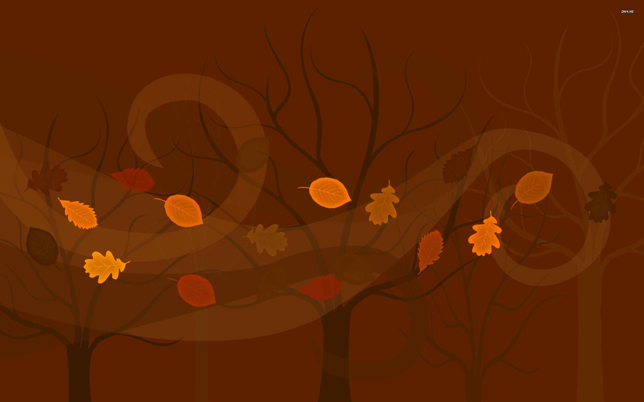 leaves blown by trees Painting, Wallpaper, Halloween