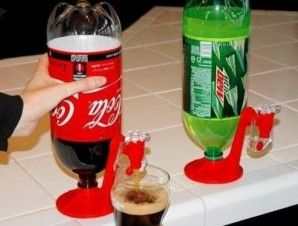 2 Liter Bottle Dispenser - Keeps drinks carbonated and dispenses just the right amount right from your fridge. - $12.98