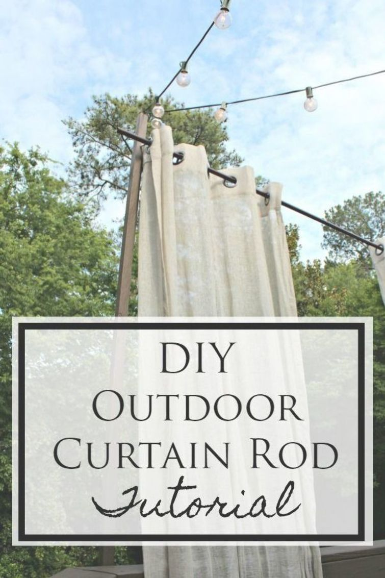 Diy Outdoor Curtain Rod This Tutorial Shows You How To Hang A