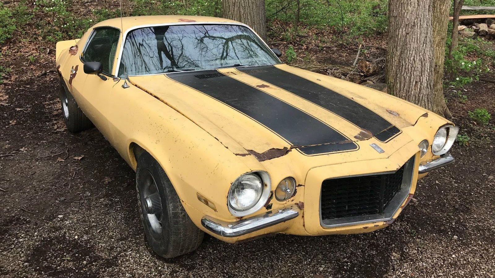 no reserve backyard find 1971 chevrolet camaro http barnfinds