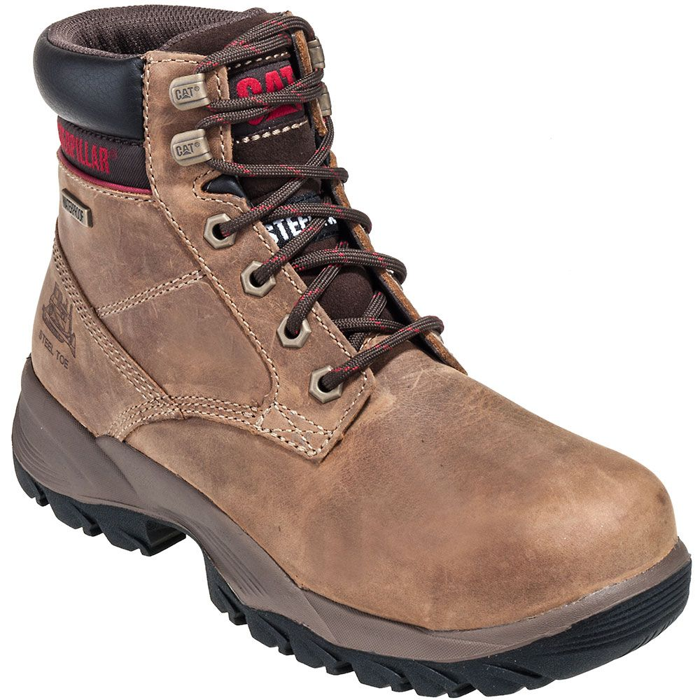 CAT Womens 90443 Dark Brown Dryverse 6 Steel Toe Boots