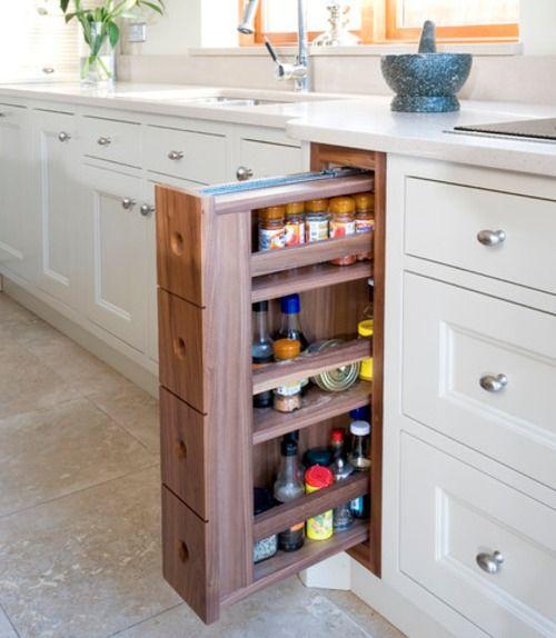 little pull-out shelves  via  Designed for Life.
