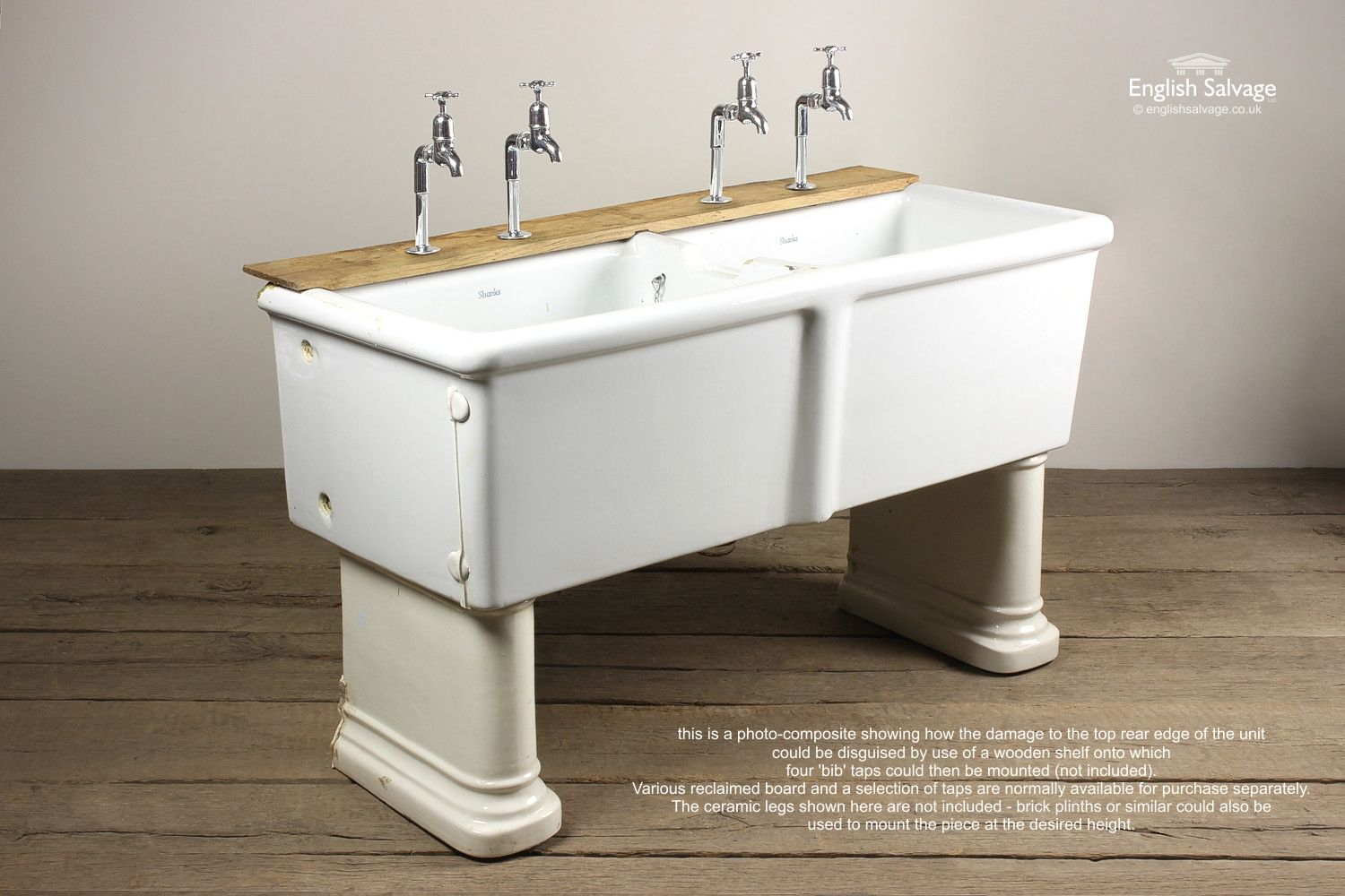 Reclaimed Shanks Double Belfast Sink Bathrooms