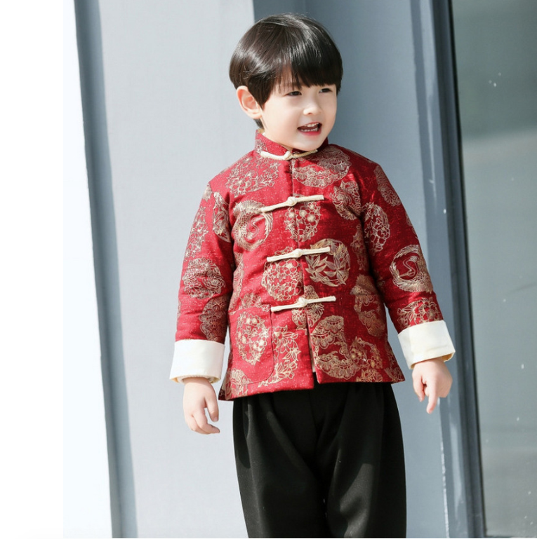 b9f1d9ca99 Traditional Chinese Festival Tang padded Clothing for Boys ...